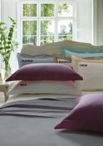 Dorma 300 Thread Count Cotton Sateen Standard Pillowcase Mushroom