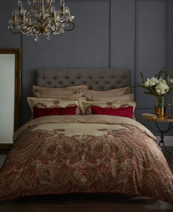Dorma Nasrina Paprika Duvet Cover Set - Superking