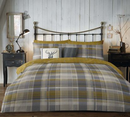 Dreams and Drapes Connolly Check Duvet Cover Set - King
