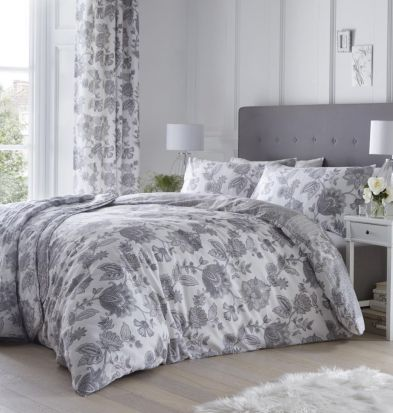 Dreams and Drapes Marinelli Grey Duvet Cover Set - Superking