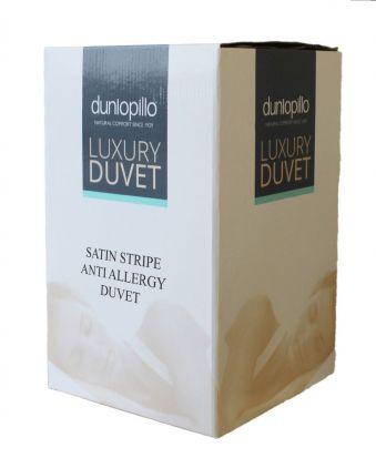 Dunlopillo Satin Stripe Anti Allergy 13.5 tog Duvet - Double
