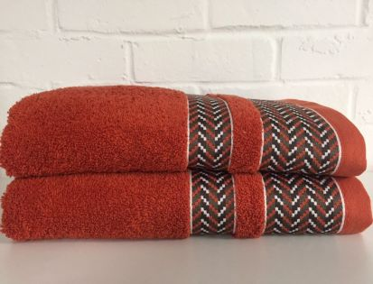 Elainer Duke Bath Sheet - Burnt Orange