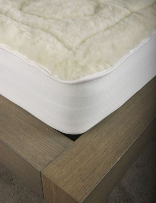 Elainer Faux Lambswool Mattress Protector Single