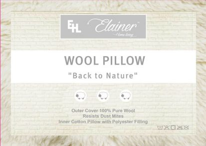 Elainer Wool Pillow (48cm x 74cm)