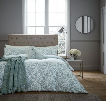 Fable Aviary Celadon Duvet Cover Set - King
