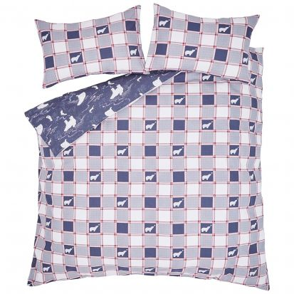 Fat Face Polar Bear Navy Duvet Cover Set - Superking