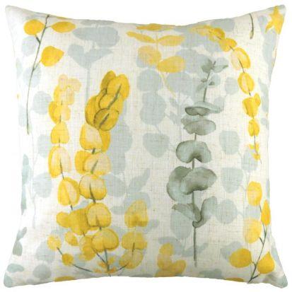 Flourish Eucalyptus Ochre Cushion