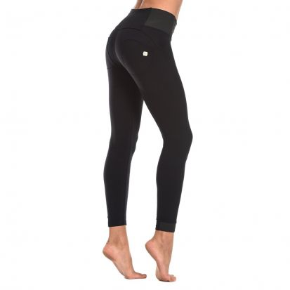 Freddy High Waist Skinny Black Trousers