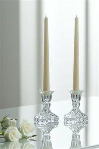 Galway Crystal Ashford Candlestick Pair