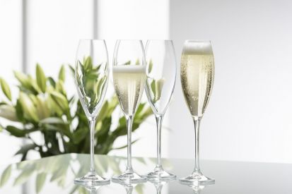 Galway Crystal Clarity Glassware - Flute Glass Set of 4
