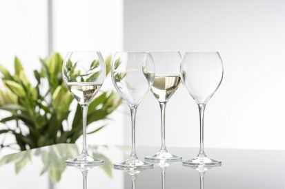 Galway Crystal Clarity Glassware - White Wine Glass Set of 4