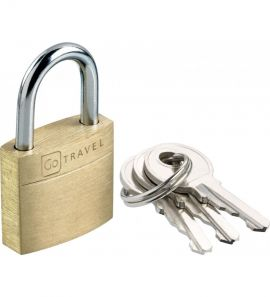 Go Travel Brass Suitcase Padlock