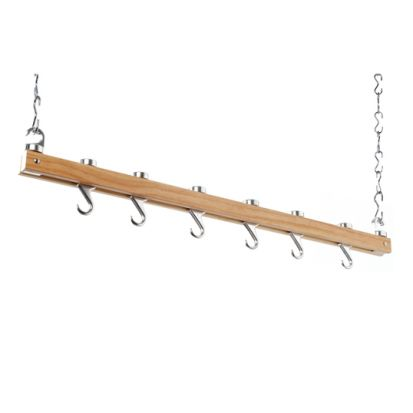 Hahn Classic Collection Natural Single Bar Ceiling Rack