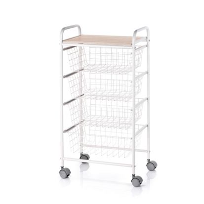 Hahn Fiesta Kitchen Trolley - Ivory and Beech
