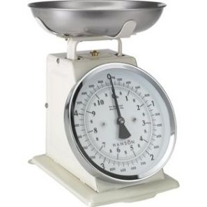 Hanson Mechanical Kitchen Scales Cream