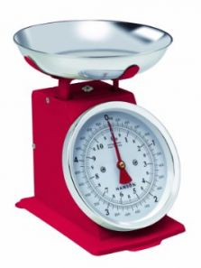 Hanson Mechanical Kitchen Scales Red