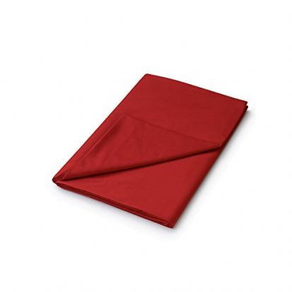 Helena Springfield Plain Dyed Red Flat Sheet - Super King