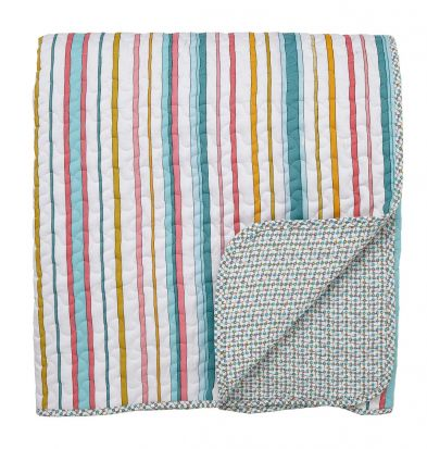 Helena Springfield Trixie Duck Egg Quilted Throw