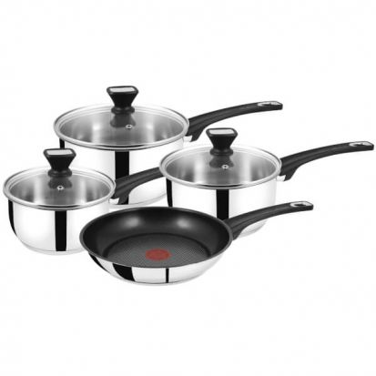 Jamie Oliver 4 Piece Saucepan Set by Tefal