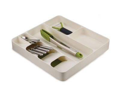 Joseph Joseph DrawerStore Cutlery Utensil Gadget Organiser-Green/White