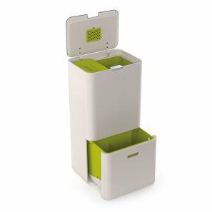 Joseph Joseph Totem 60L Intelligent Waste & Recycling Bin Stone
