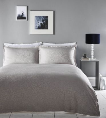 Karen Millen Leopard Dove Grey Duvet Cover Set - Double