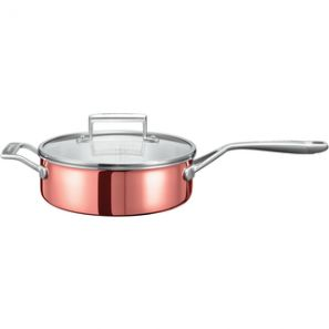 Kitchen Aid 3 Ply Copper 24cm Saute Pan with Helper Handle