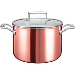 Kitchen Aid 3 Ply Copper 24cm Stockpot with Lid