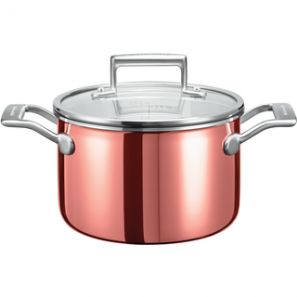 Kitchen Aid 3 Ply Copper 5L Low Casserole