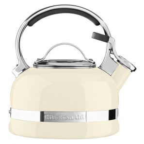 Kitchen Aid Whistling Stove Top Kettle 1.6L - Cream