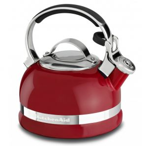 Kitchen Aid Whistling Stove Top Kettle 1.6L - Red