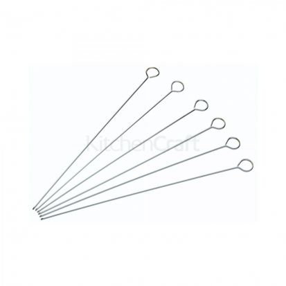 KitchenCraft Pack of Six 30cm Flat Sided Skewers