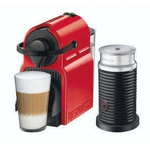 Krups Inissia Nespresso Bundle Red Coffee Machine & Aeroccino