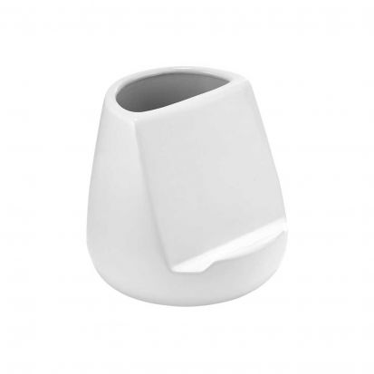 Ladelle Oliver White Gloss Utensil Holder and Tablet Stand