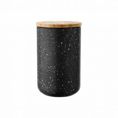 Ladelle Stak Black Speckled 17cm Cannister