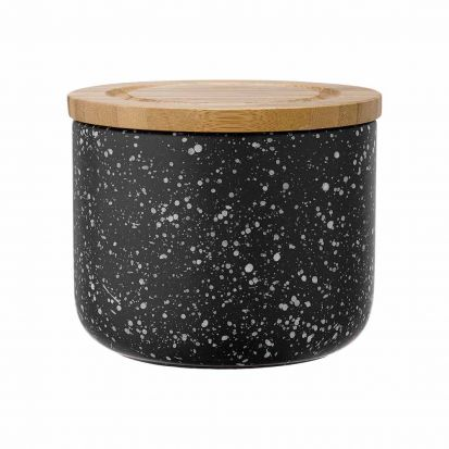 Ladelle Stak Black Speckled 9cm Cannister