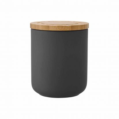 Ladelle Stak Soft Matt Charcoal 13cm Cannister