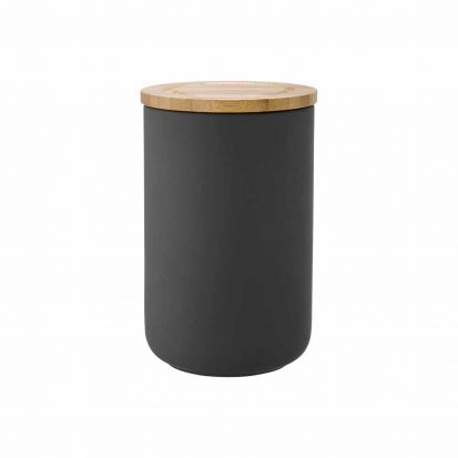 Ladelle Stak Soft Matt Charcoal 17cm Cannister