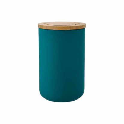 Ladelle Stak Soft Matt Teal 17cm Cannister