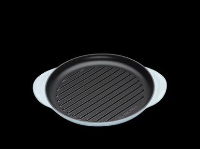 Le Creuset 25cm Cast Iron Round Grill Pan - Coastal Blue