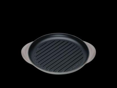 Le Creuset 25cm Cast Iron Round Grill Pan - Flint