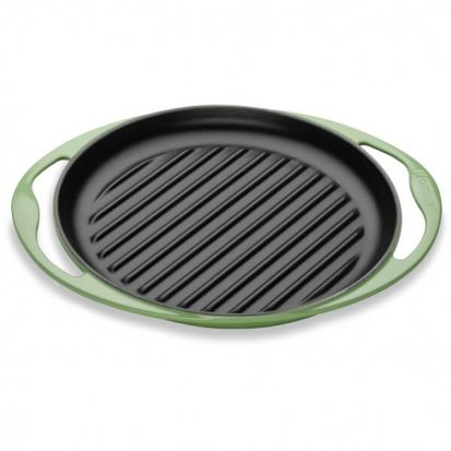 Le Creuset 25cm Cast Iron Round Grill Pan - Rosemary