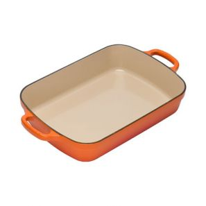 Le Creuset 29cm Cast Iron Rectangular Roaster - Volcanic