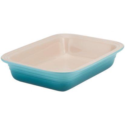 Le Creuset 29cm Stoneware Deep Rectangular Dish Teal - SPECIAL PRICE!