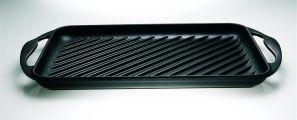 Le Creuset 32.5cm Rectangular Grill - Satin Black