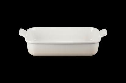 Le Creuset 32cm Deep Rectangle Dish - Meringue