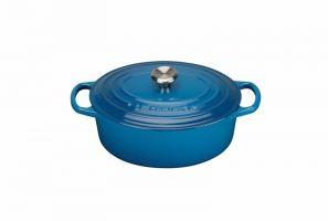 Le Creuset Signature 25cm Oval Casserole - Marseille Blue