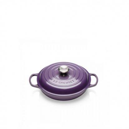Le Creuset Signature 26cm Shallow Casserole - Ultra Violet