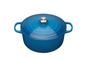 Le Creuset Signature 28cm Round Casserole - Marseille Blue