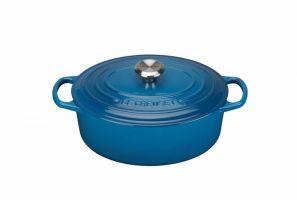 Le Creuset Signature 29cm Oval Casserole - Marseille Blue